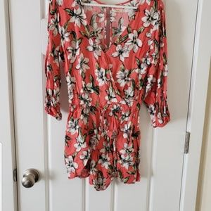 Medium floral Hollister romper